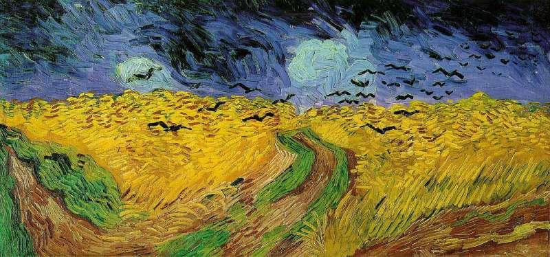 Trigal con cuervos. Van Gogh